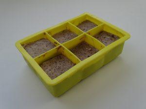 Healthy summer snacks - banana cubes