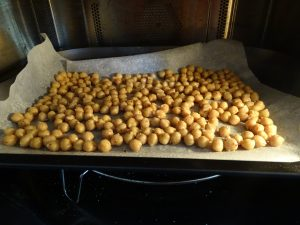crunchy chickpeas - oven