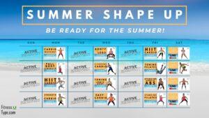 Summer Shape Up Program Calendar